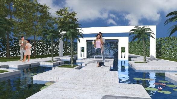 rendering piscina