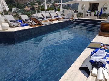 riparazione telo impermeabilizzante piscina positano