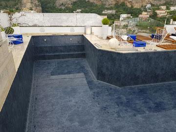 telo impermeabilizzazione piscina positano